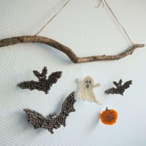 Halloween Dekoration mit Kindern basteln