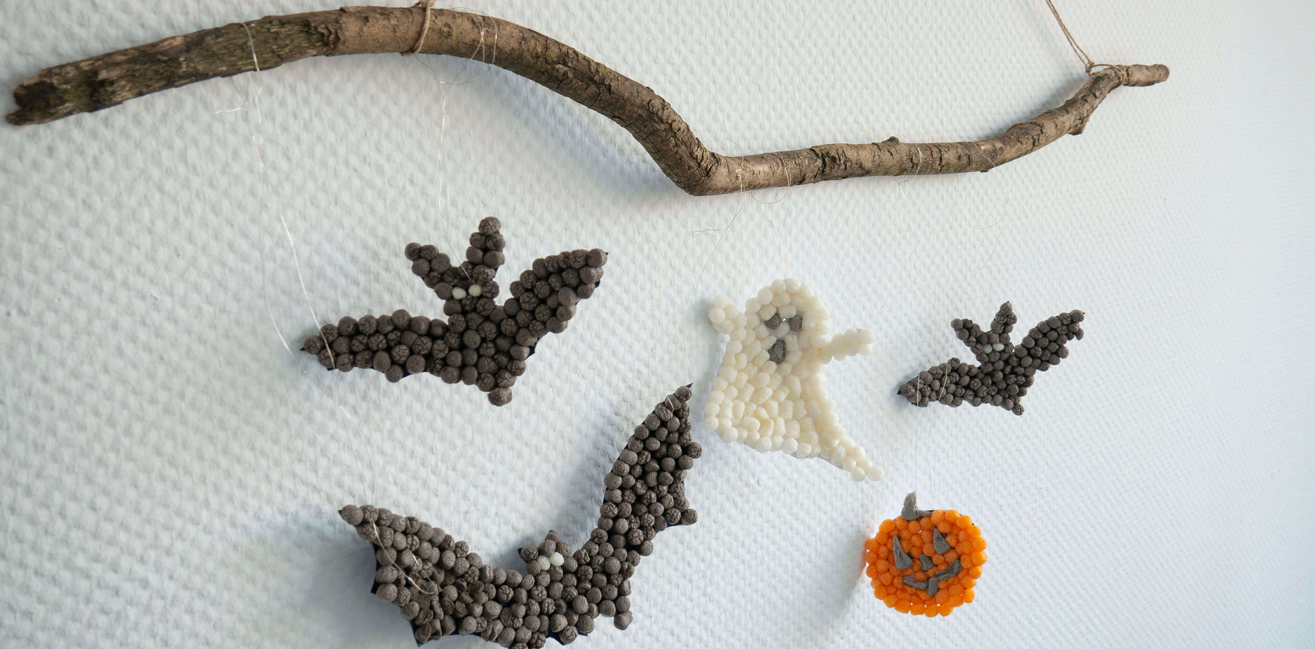 Gespenstische Bastelidee für Halloween