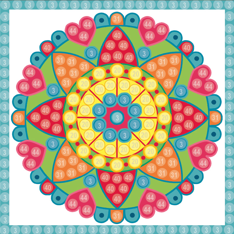 Bastelvorlage Mandala (Trendy Mosaic)