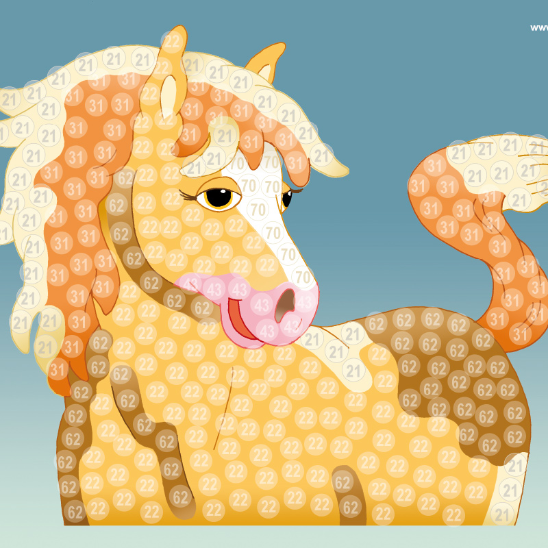 Bastelvorlage Pferd (Trendy Mosaic)