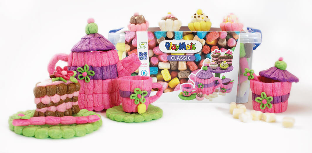 Die neue PlayMais® CLASSIC Toolbox und Cup+Cake