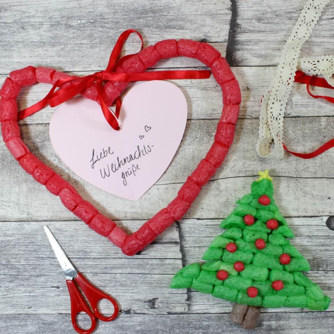 Weihnachtskarten Basteln Tannenbaum.Kreative Weihnachtskarten Basteln Mit Kindern Playmais
